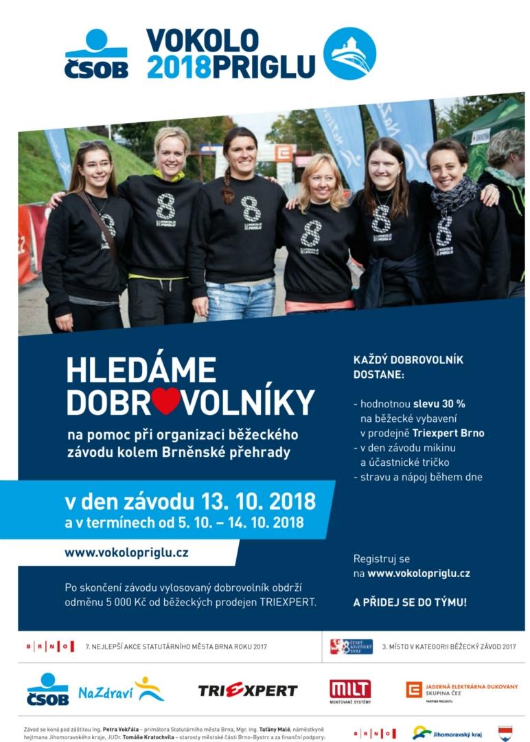 Hledáme dobrovolníky VP 2018