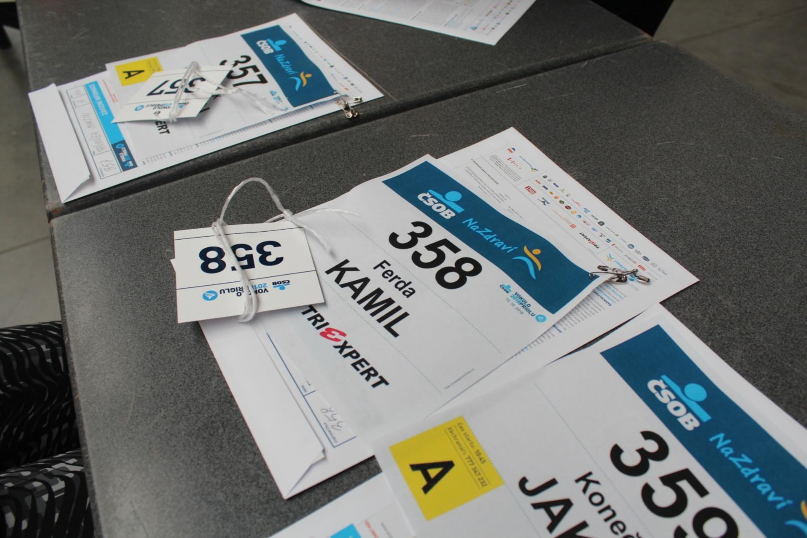 Startovní číslo ČSOB VP 2018
