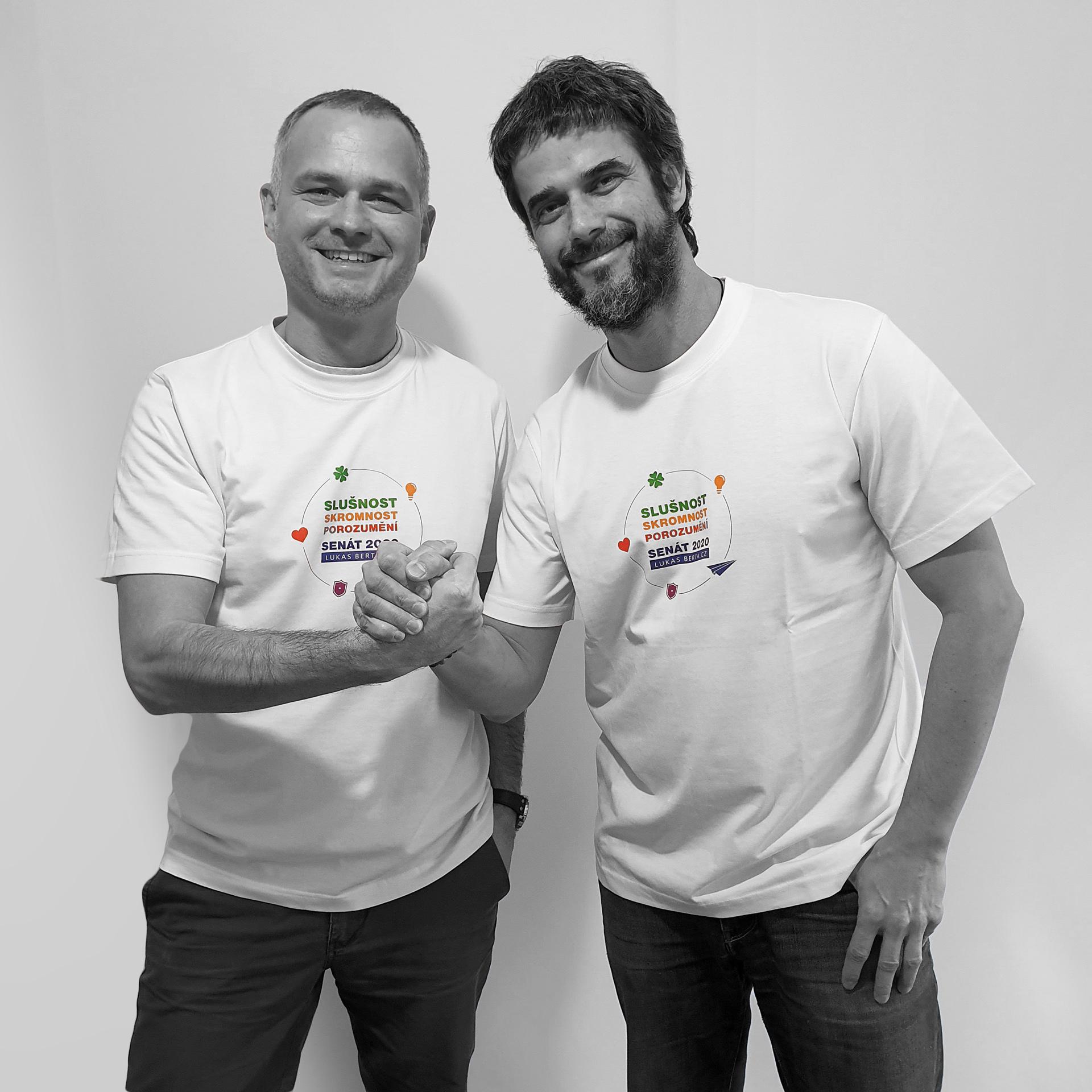 Lukáš Berta, nezávislý kandidát do Senát 2020 za Brno, a Petr Božek, ředitel běžeckého závodu Vokolo priglu